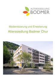 Modernisierung und Erweiterung Alterssiedlung Bodmer Chur