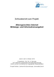 Altersgerechtes Internet Bildungs- und Informationsangebot