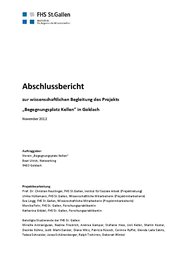Abschlussbericht zur Wissenschaftlichen Begleitung