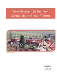 Abschlussbericht Siedlung Schmidebach Grossaffoltern
