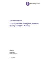 SLEEP (Schlafen und liegen in entspannter, ergonomischer Position)
