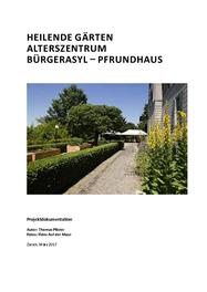 Heilende Gärten Alterszentrum Bürgerasyl – Pfrundhaus