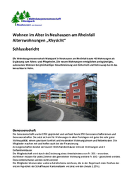 """Wohnen im Alter in Neuhausen am Rheinfall Alterswohnungen """"Rhysicht"""""""